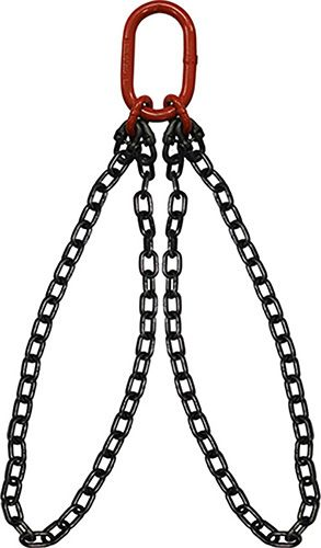 Hanes Supply 1 Master Link HSI Oblong Link-to-Foundry Hook Ends 15,000 Lbs WLL Grade 100 Alloy 1//2 x 3 Single Leg Chain Sling for Tough Conditions